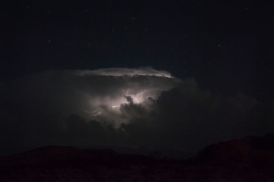 Distant Thunderstorm, Valley of Fire State Park, NV