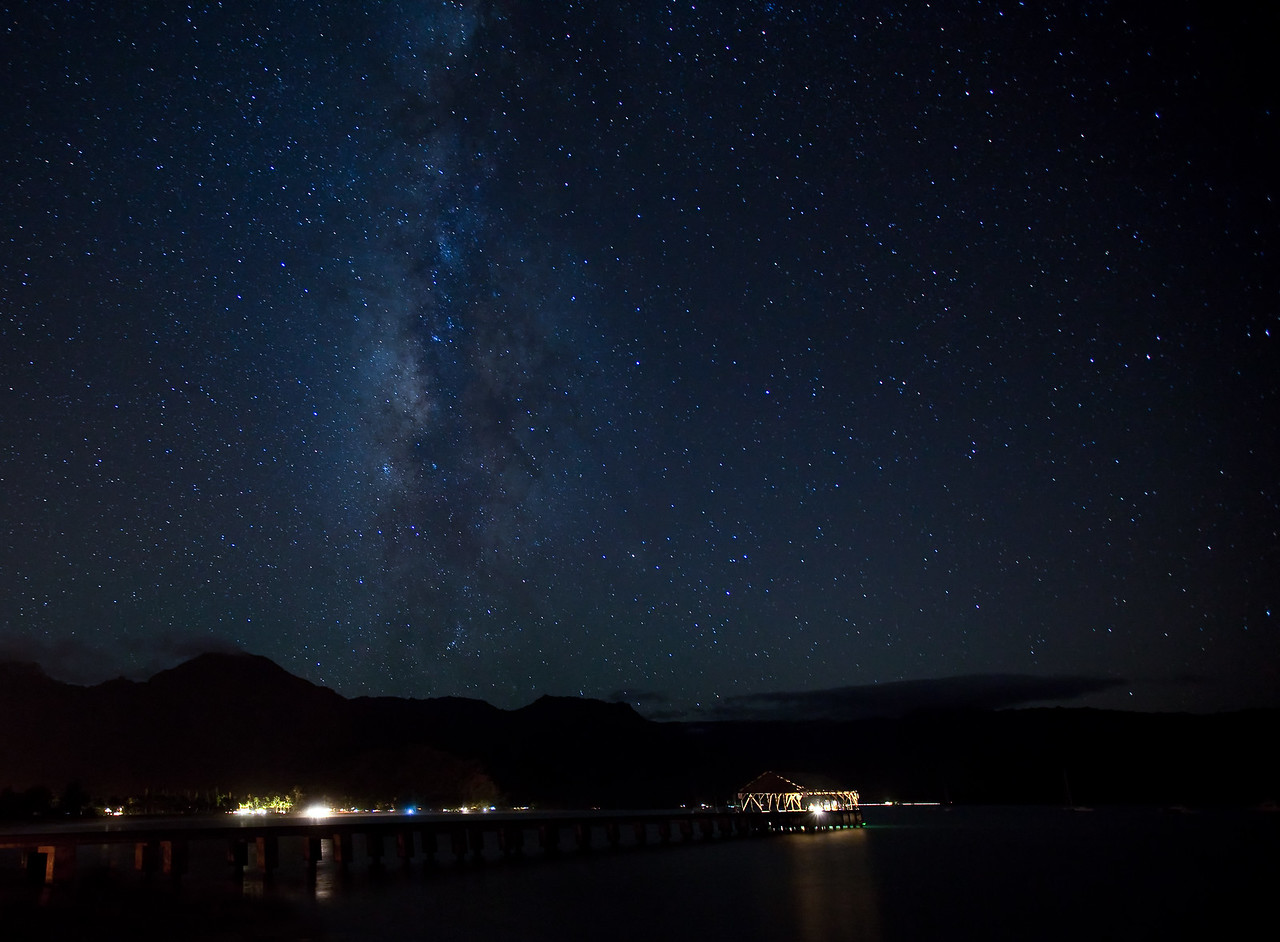 Hanalei Pier Milky Way