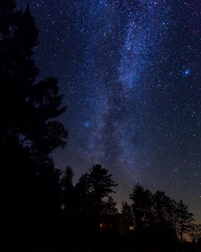 Milky Way, Jacks Lake, Ontario, Canada.