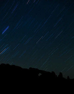 Star Trails Over North Window, Arches NP, Utah