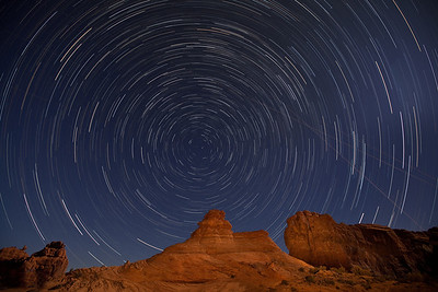 Star Trails, Arches NP, Utah.