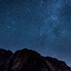 Starry sky and Mily Way over Nyken, Nyksund