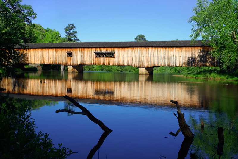 Watson Mill Bridge, late afternoon
