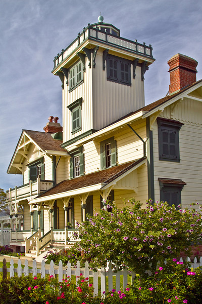 Point Fermin Lighthouse is located on the northern end of Long Beach Harbor, California