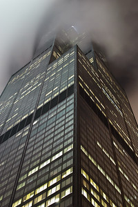 Tower in Fog Willis Tower Chicago, IL