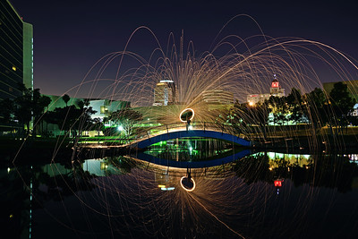 Steel wool at Rainbow Lagoon, Long Beach