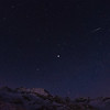 Jupiter und Geminiden über den Piz Cambrena