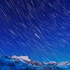 Sternspuren über den Alpen