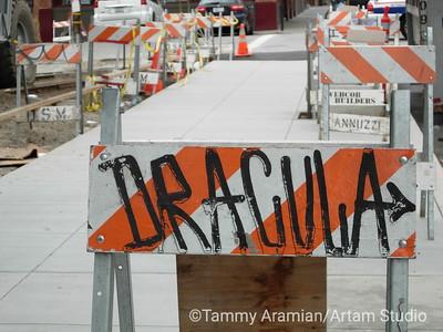 Dracula's barricade, San Francisco, 2007