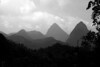Pitons in Black and White