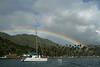 Rainbow in Marigot Bay