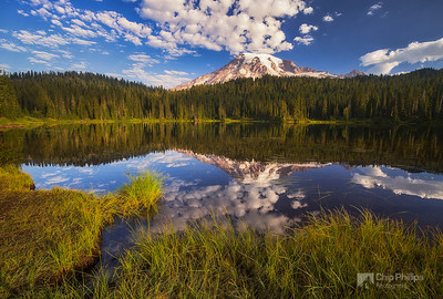 Picture Lake Cloud Reflections