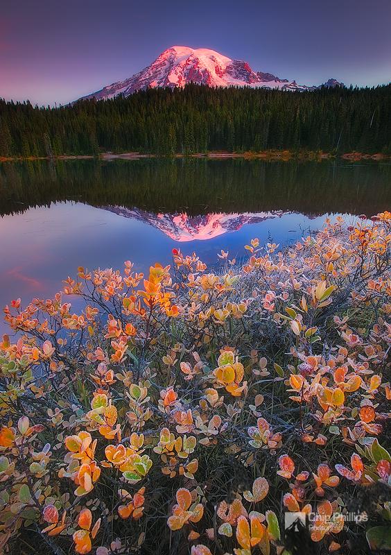 Fall Morning Reflection Lakes