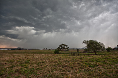 a small storm cell, out the back of Beaudesert, QLD.