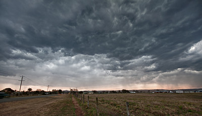 a storm overhead, as we went past Beaudesert.