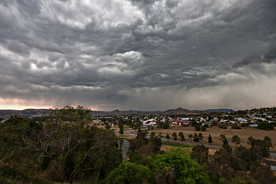 Storm passing over the back of Boonah.