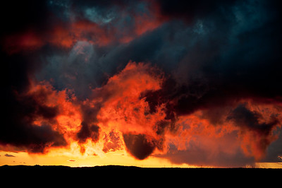 The wildest sunset I have ever witnessed! November 7, 2011, in Carefree, Arizona.