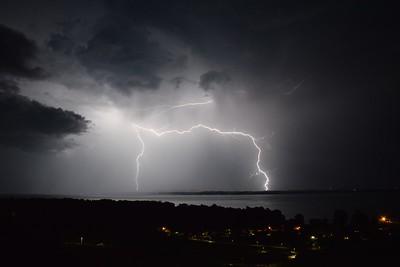 Storm on Lake Neuchâtel, Switzerland, June 29 2016