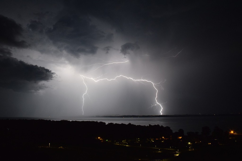 Storm on Lake Neuchâtel, Switzerland, June 29 2016