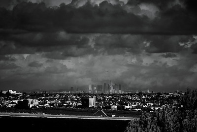Clouds hang ominously over the South Bay and Los Angeles, December 2014