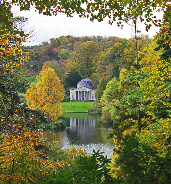 The Pantheon in Stourhead Gardens.