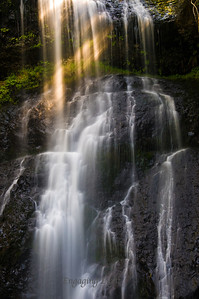 Light Rays - Upper North Falls, Silver Falls State Park, Oregon