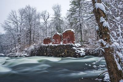 Snowy Day On The Winnipesaukee River