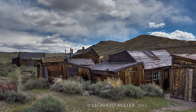 Bodie Shacks Approaching Storm - 2012