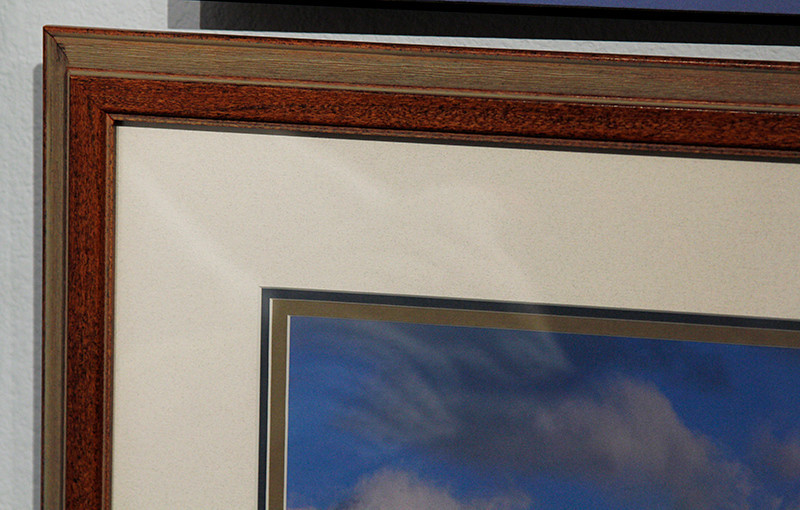 Double Matted and Framed corner detail