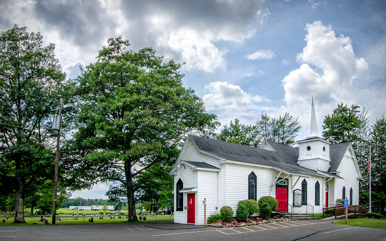 Blakeslee Methodist Church, Blakeslee, PA<br /> 1680 x 1050 px