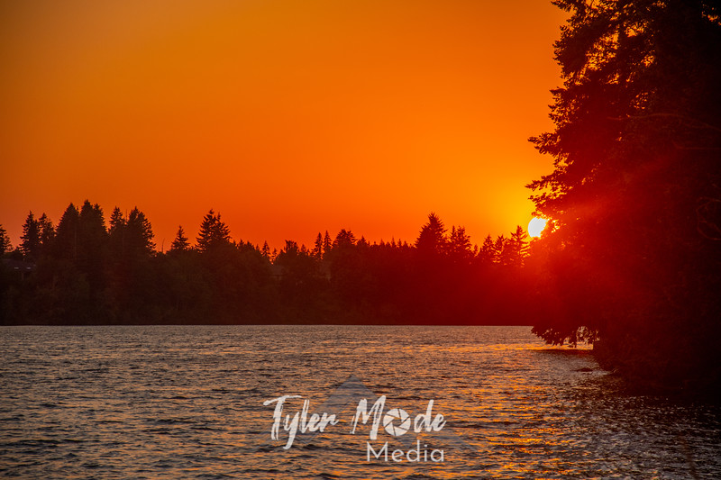 1  G Lacamas Lake Sunset