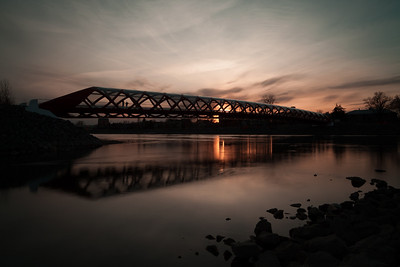 Peace Bridge at sunset, Calgary Alberta