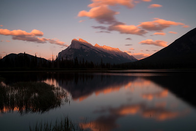 Sunset at Vermilion Lakes, Banff Alberta