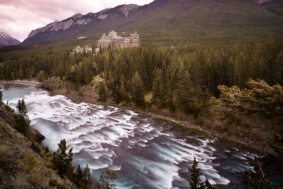 Banff Springs Hotel and the Bow River