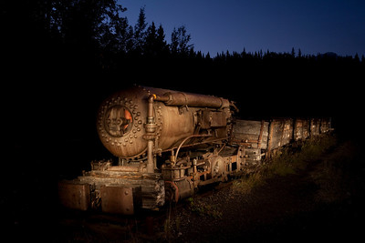 Ghost Train:  A relic of the mining days in Bankhead, Banff National Park