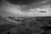 "Badlands National Park ""The Valley"" monochrome"