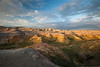 "Badlands National Park ""Bold Sunset Color"""