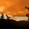Dazzling sunset