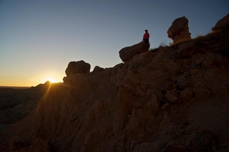 Sunset at Saddle Pass; Badlands, South Dakota.