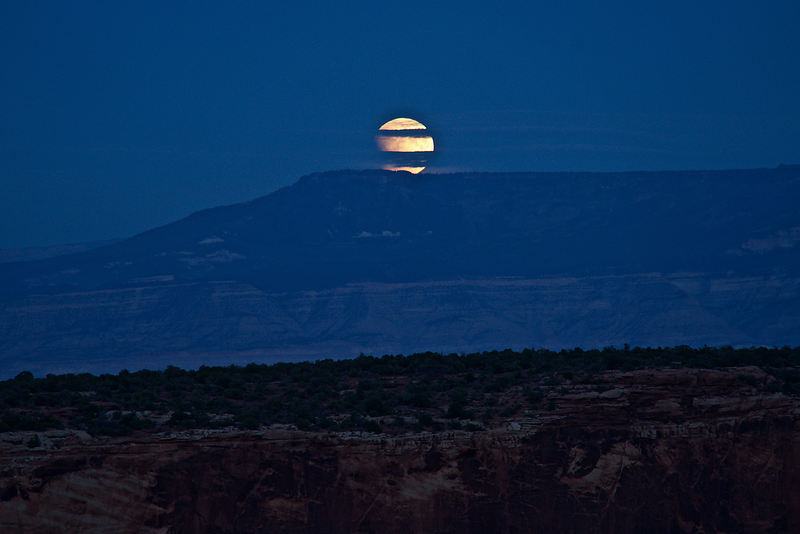 Supermoon Eclipse at the Colorado National Monument.