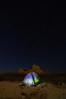 Back at camp, 3:18 a.m.; Badlands, South Dakota.