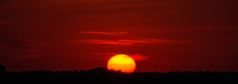 sunset of the venus transit