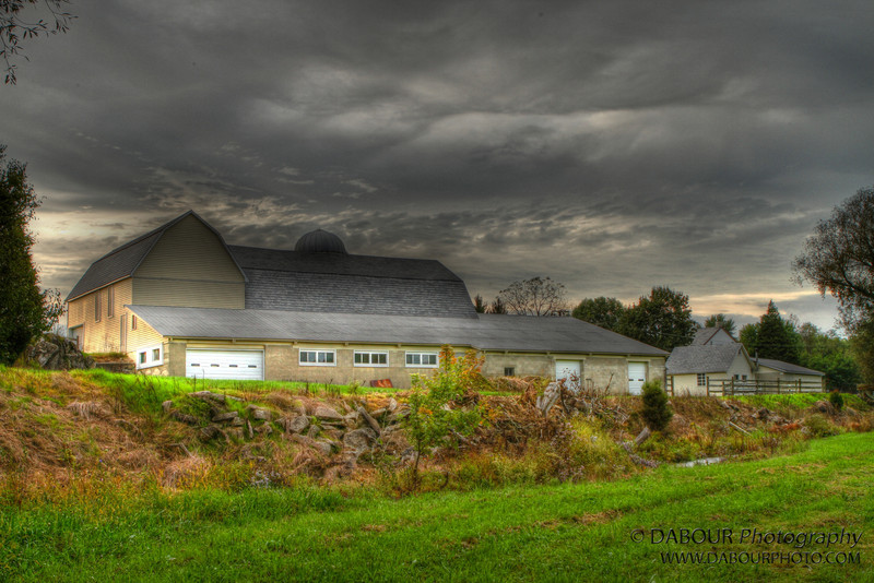 Storm clouds over the barn