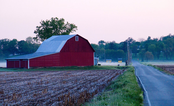 Sunrise & Old Barns