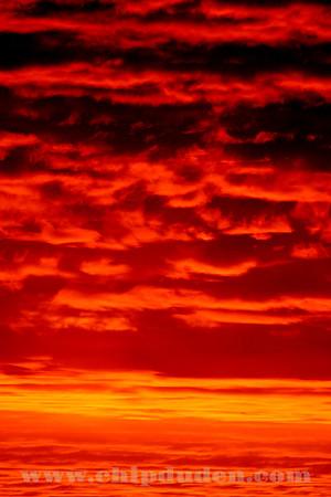 An incredibly vibrant November Sunrise in Nebraska