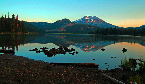 Sunrise Sparks Lake