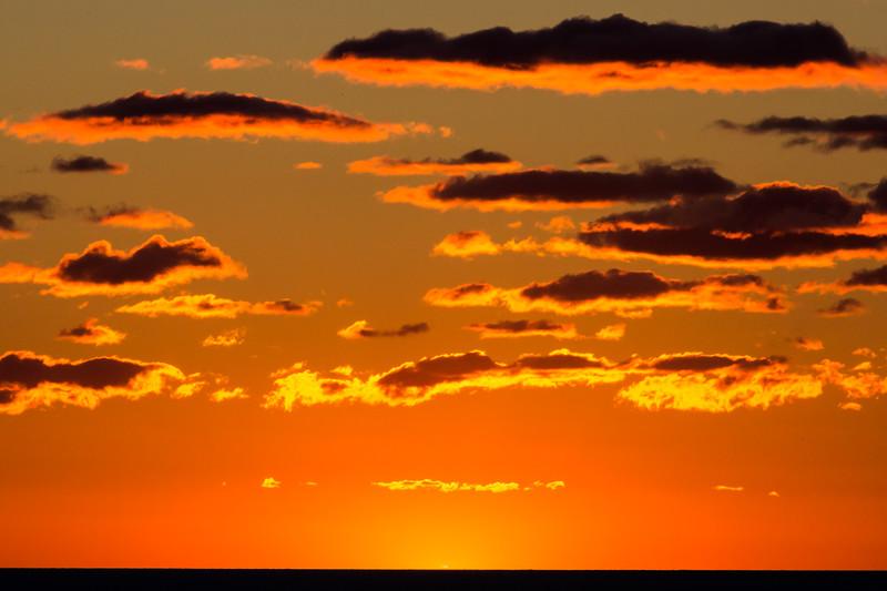 Sunset over Lk. Michigan