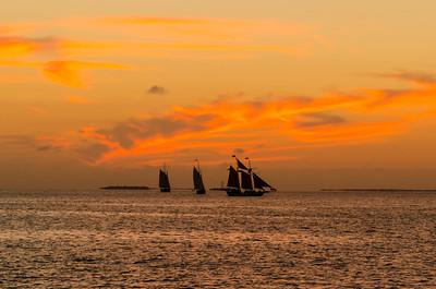 Sunset, Key West, Mallory Square, Florida