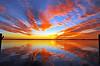 Sunset across the Indian River<br /> Merritt Island, Florida<br /> 180-3893a