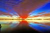 Sunset across the Indian River<br /> Merritt Island, Florida<br /> 180-3928c